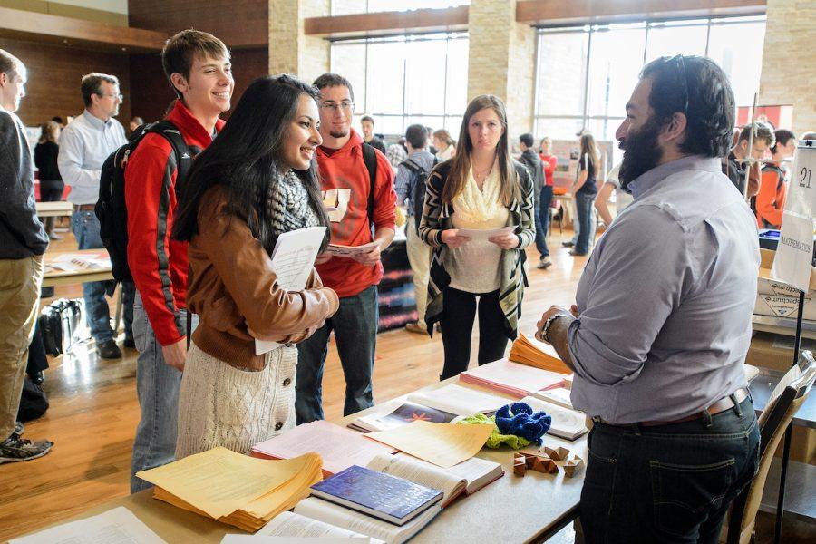 students at a career fair