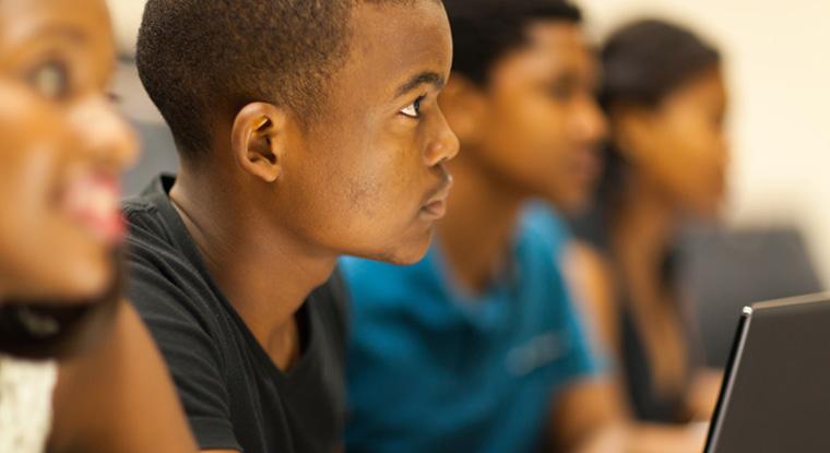 kids listening in class