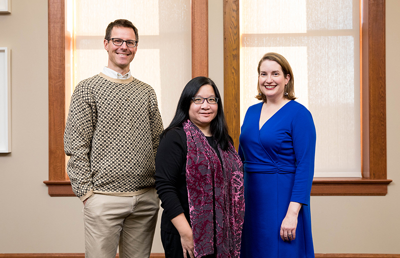 Adam Nelson, Li-Ching Ho, and Kate McCleary lead the Global Engagement Office