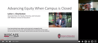 LaVar Charleston speaks about advancing equity