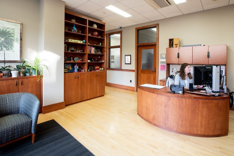 Photo of the lobby of the School of Education Deans office