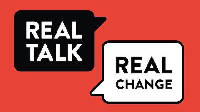 Real Talk for Real Change logo