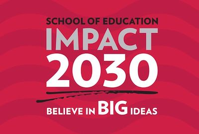 """Impact 2030 graphic with """"Believe in Big Ideas"""""""
