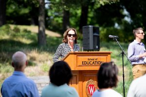 Dean Diana Hess at Welcome Back Bash
