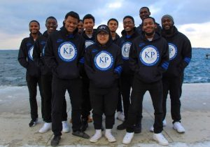 Photo of the members of Kappa Rho Chapter of Phi Beta Sigma Fraternity Inc. at UW–Madison