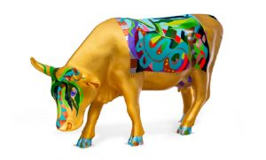 Photo of Gail Bach's painted cow