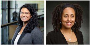 Headshots of Erica Turner and Anjale Welton